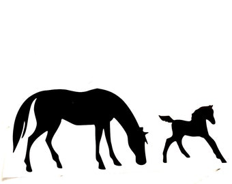 DIY Horses Vinyl Decal Choose Size, Choose Vinyl Color, LapTops, Cell Phone, Car Windows, Coffee Cups, Drinking Cups, Home Decorations