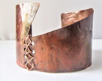 Copper Cuff Bracelet, Statement Jewelry, Boho Bracelet, Copper Jewelry, Bohemian Jewelry, Bracelet CuffGeometric, Copper, Bracelet, Rustic