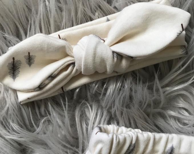 Baby headband    Knotted headband     newborn headband
