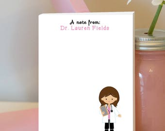 Doctor Notepad - Personalized Notepad - Nurse Notepad - Nurse Appreciation -  Doctor Gift - Nurse Gift - Stocking Stuffer - Holiday Gift