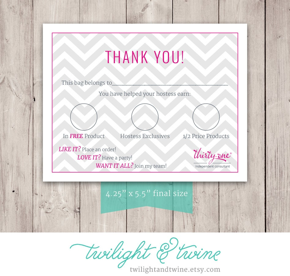 Thirty-one Chevron Bag Tag PDF Printable Thirty One 31