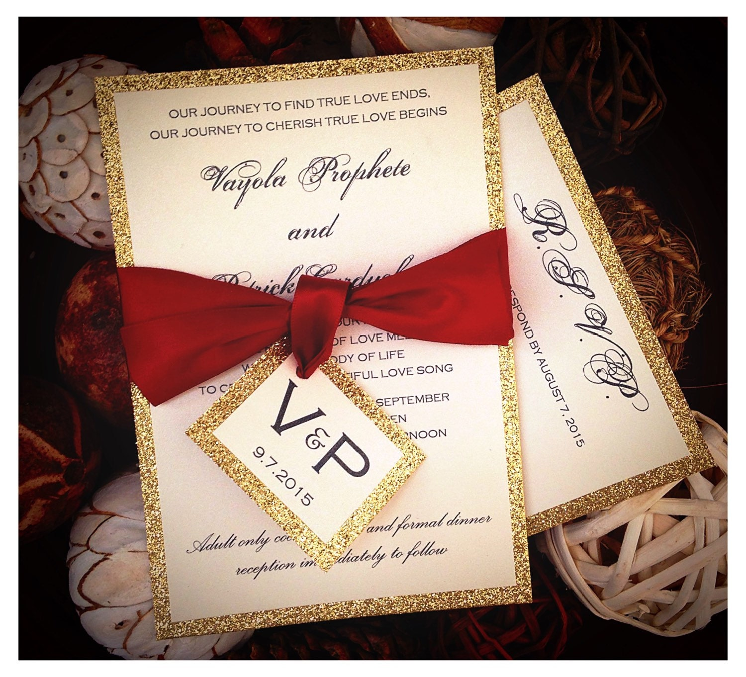 Red And Gold Wedding Invitations Staruptalent Com