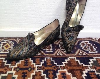 1980s Suede/ Metallic FANTASY shoes