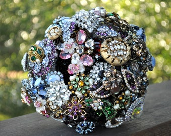 CUSTOM  Vintage Jeweled Bridal Brooch Bouquet - to fit your style, budget & colors - plus lifetime guarantee