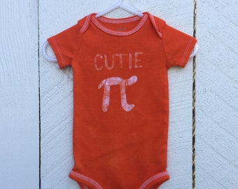 Pi Day Baby Bodysuit, Orange Pi Day Baby, Cutie Pi Bodysuit, Nerdy Baby Bodysuit, Math Baby Gift, Boys Pi Day, Girls Pi Day (3-6 months)