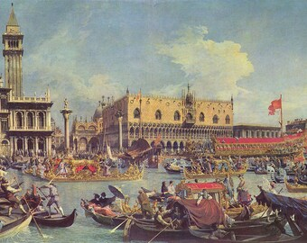 Docks - Canaletto - Poster A3 or A4 Matt, Glossy or Art Canvas Paper
