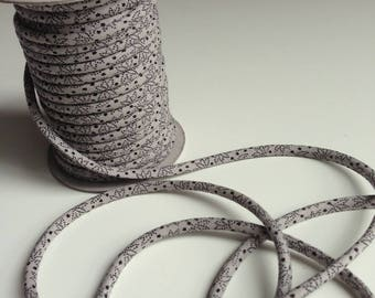 cords Japanese 3mm, cotton, traditional, gray and black pattern (C3504-3)