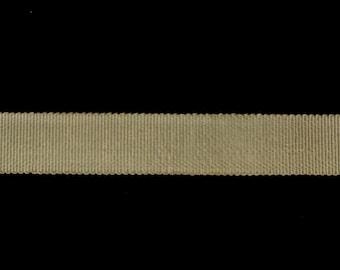 36yds Dark Cream Petersham Ribbon - 16mm