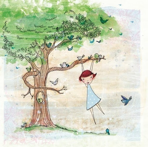 Up Early archival quality Wall art print kids decor