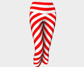 Mainz Carnival leggings, Red and white striped leggings, Red and white striped carnival leggings, Germany Carnival Clothes