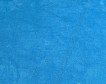 Underground Blues-Circles Cotton Fabric from Troy
