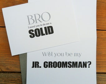 Time to tie one on card ask best man card ask groomsman funny will you be my junior groomsman card junior groomsman gift ask groomsman junglespirit Gallery