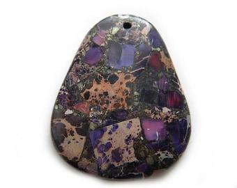 Purple Matrix Focal Bead - Statement Bead