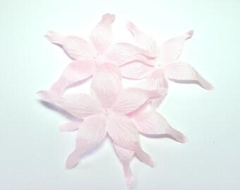 PINK WISPY SILK SATIN FLOWER SHAPED 70 MM