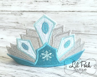 Girls Frozen Elsa inspired Crown with Headband