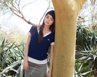 Blue t-shirt, soft shirt , blue short sleeve shirt, womens shirts, blue summer shirts, womens tops, summer top, blue shirt
