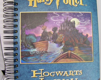 Harry Potter book journal blank diary planner altered book Hogwarts Journal