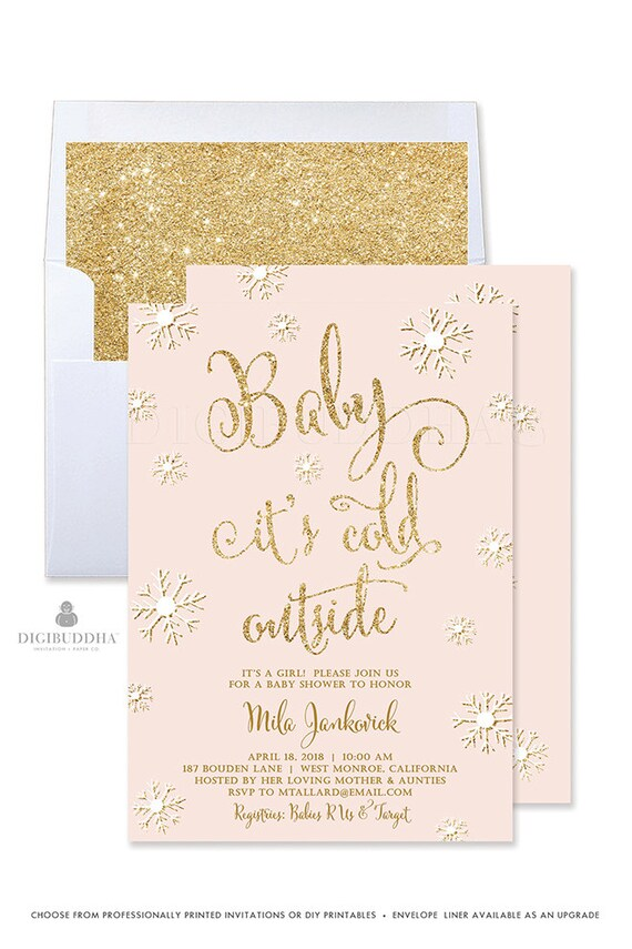 Baby It\'s Cold Outside Invitation Winter Baby Shower