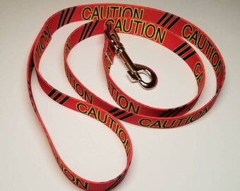 "4 ft - ""Caution"" Dog Leashes"