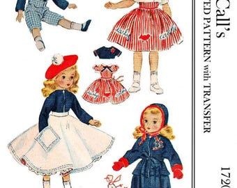 Doll Clothes, Sweet Sue, Sewing Pattern, 15 Inch Doll Clothes, Mccalls 1720, PDF Pattern, Vintage Pattern, Vintage Sewing, Digital Download