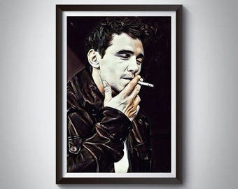 James Franco Inspired Art Poster Print, James Franco Poster