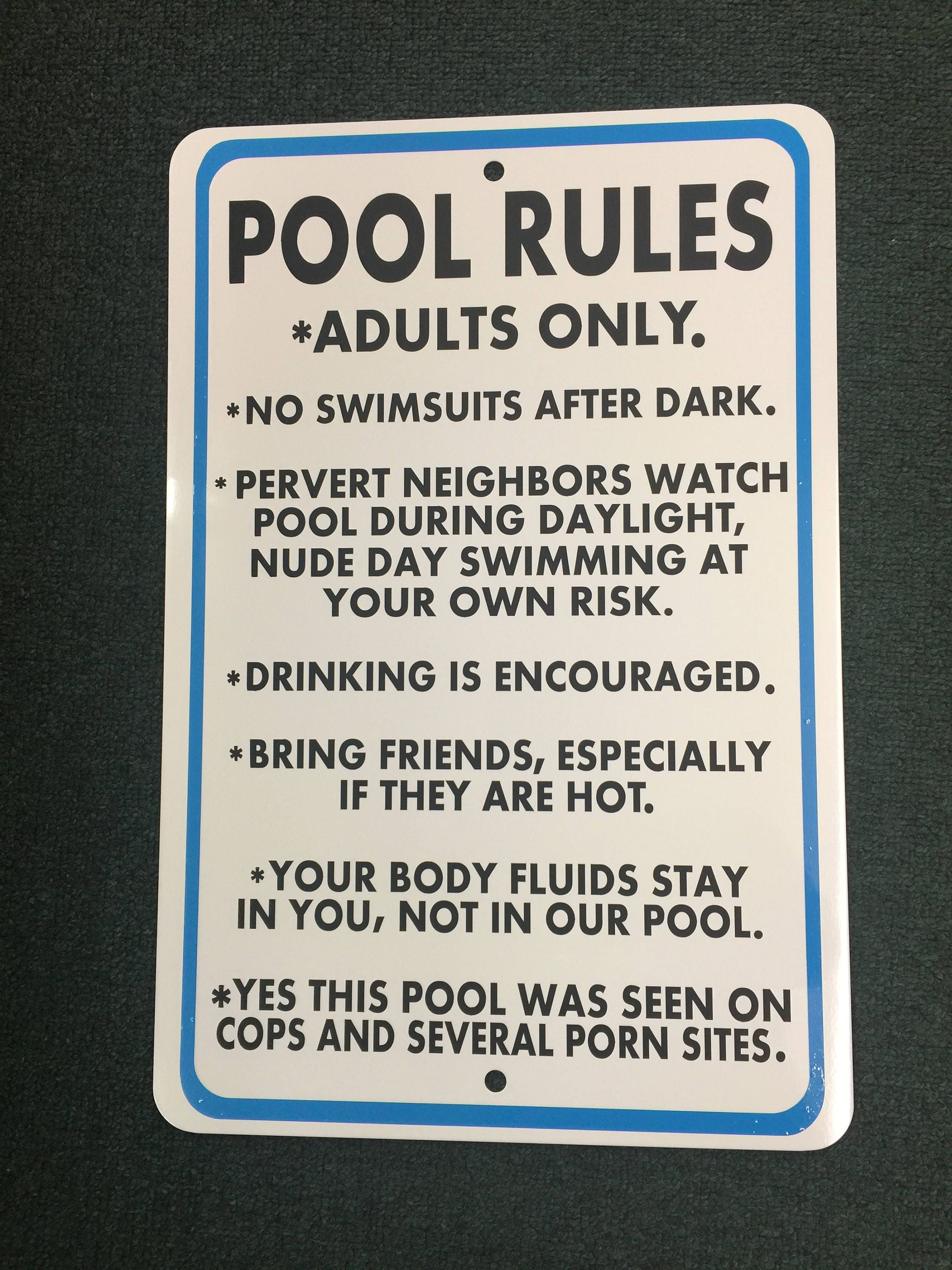 rules tub swimming slippery icandy tagged sign com collections running products wet hot pool signs when no