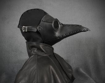 "Plague Doctor mask ""Bubonis"" in leather"