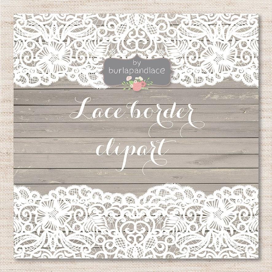 Lace border rustic, Wedding invitation border, frame, lace clipart ...