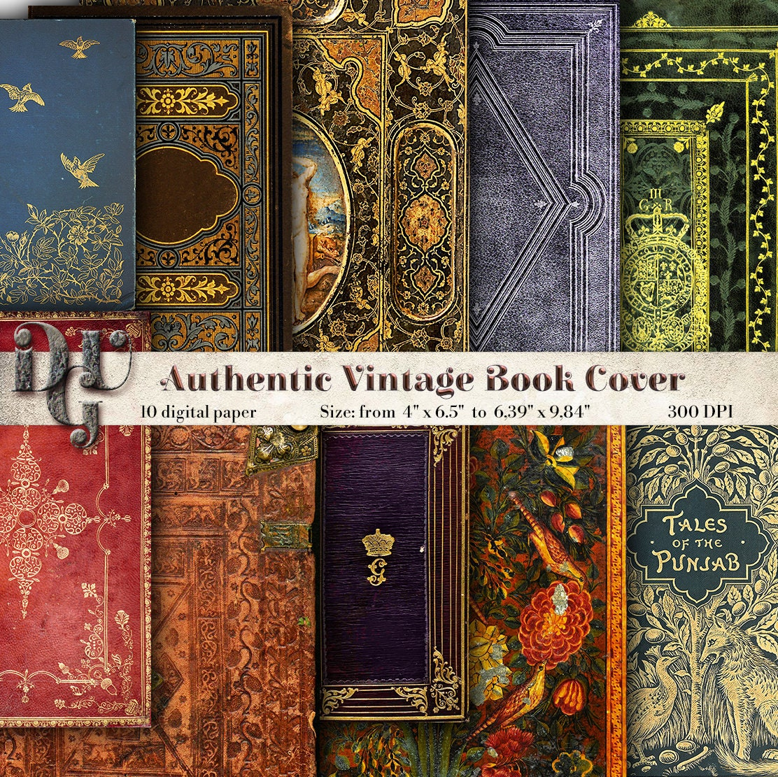 Vintage Decorative Book Cover : Decorative book cover journal pages printable vintage