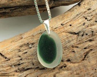 green multi seaglass necklace