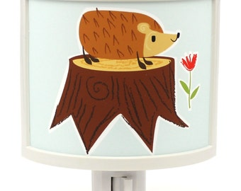 Hedge on a Ledge hedgehog  Cute Night Light Bedroom GET IT nightlight Nite Lite