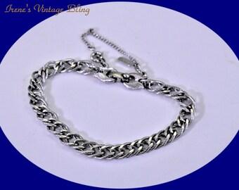 Vintage Bracelet Silver Tone Bracelet Monet Bracelet Gatsby Bracelet Boho Bracelet Costume Jewelry Vintage Jewelry Gift For Her