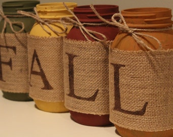 FALL/Autumn Mason Jar Decoration