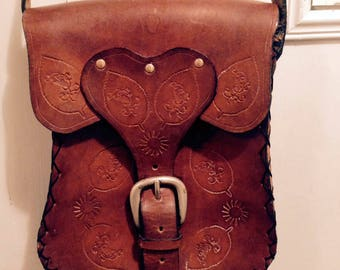 leather bag hippie vintage
