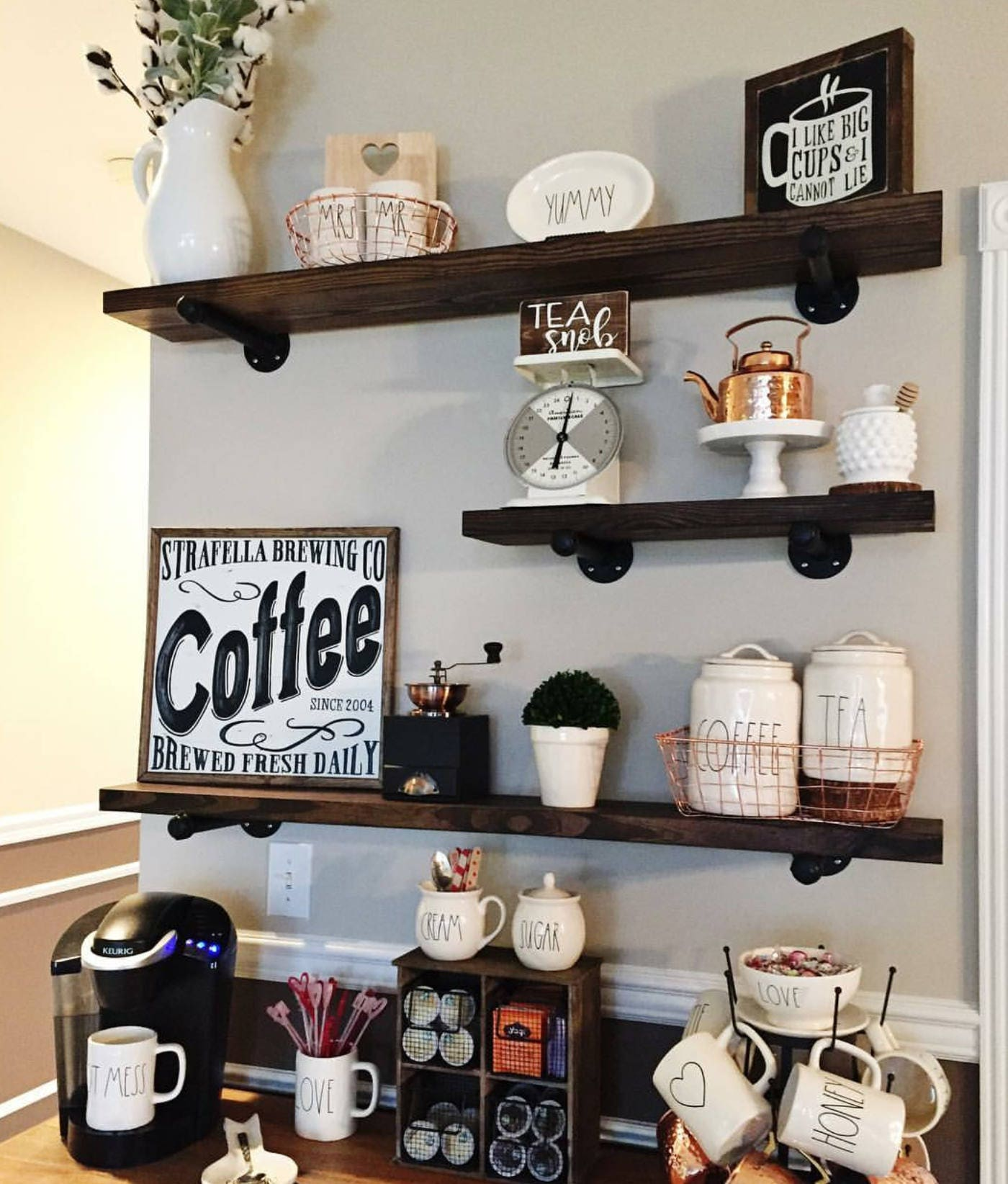 wood floating shelves 8 inches deep farmhouse shelf rustic. Black Bedroom Furniture Sets. Home Design Ideas