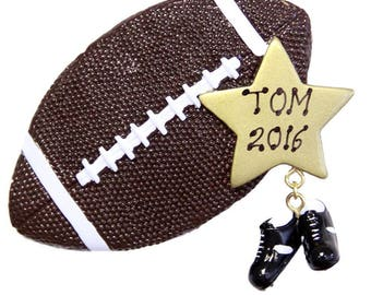 Personalized Sports Football Christmas Tree Ornament