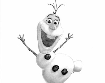 FROZEN - OLAF pencil drawing