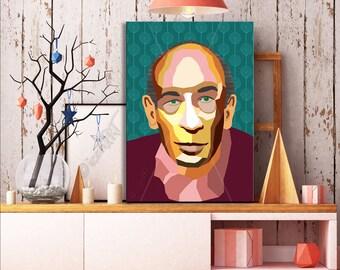Henry Miller ART, Literature, iconArt, Personalized Gift, Name, City, Gift For Women, For Men, For Grandma, For Grandpa,