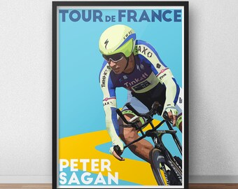 Tour De France Poster - Peter Sagan - Cycling Poster - Cycling Print - Cycling Art - Cycling  Gifts - Tdf - Bike Poster - Bikes