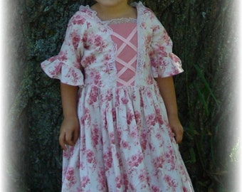 The Colonial Costume Dress CHILD SIZE pattern with FREE Video Tutorial