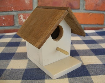 Birdhouse - Light Beige, Decorative - Indoor, Outdoor, Garden, Porch, Patio, Shelf Decoration