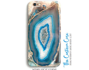 Turquoise Gemstone Phone Case, Blue Agate Phone Case, Geode Case, for Iphone and Samsung cases, Iphone 8 case, Iphone X case, Note 8 case