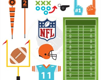 Football Clipart,sports clipart,american football clipart,digital download