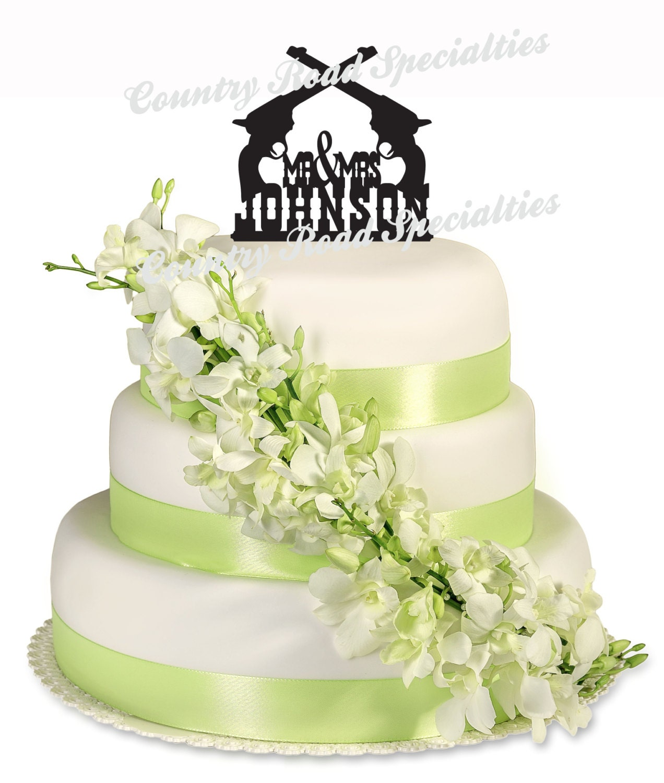 Western Wedding Cake Topper Western Pistol Wedding Cake