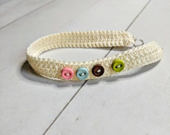 Springtime Button Crocheted Anklet