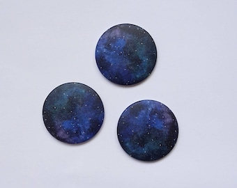 "set of 3 magnets ""universe"""