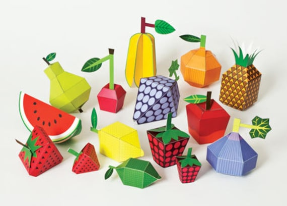 3d paper fruit craft fruits diy paper craft kit 3d paper toys colourful 3299