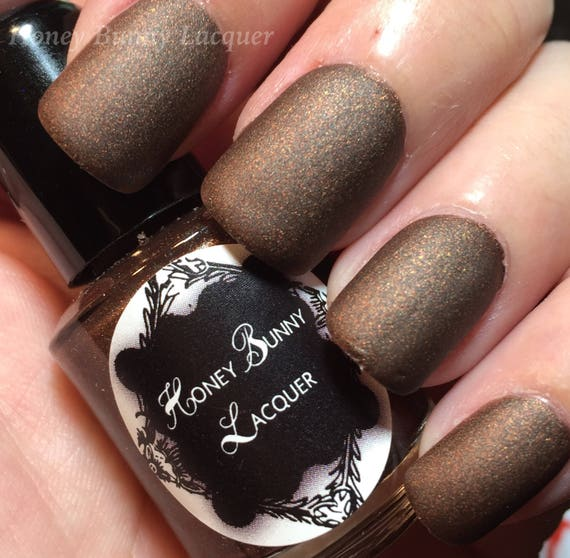 Hot Chocolate matte nail polish matte brown 5 free