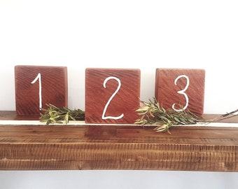 Australian Timber Wedding Table Numbers