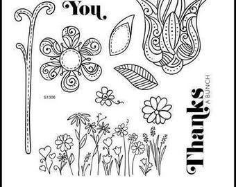 A Flowering Bunch S1306 CTMH Close To My Heart Stamp Set